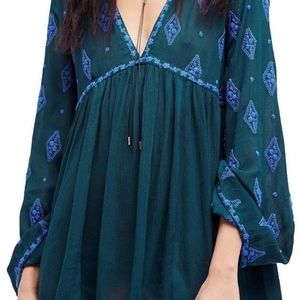 Free People Diamond Embroidered Tunic